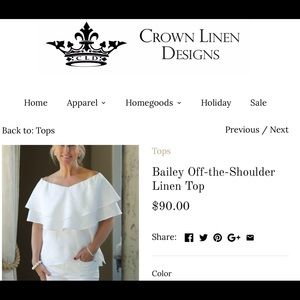 Almost new! Worn once! Crown Linen top SZ L